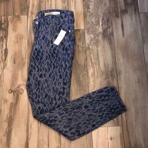 Anthropologie cheetah print jeans